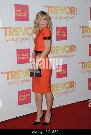 Los Angeles, CA, USA. 7th Dec, 2014. Elisabeth Rohm at arrivals for The Trevor Project's TrevorLIVE Los Angeles - Stock Photo