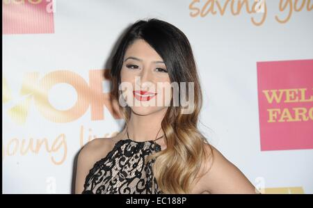 Los Angeles, CA, USA. 7th Dec, 2014. Mia at arrivals for The Trevor Project's TrevorLIVE Los Angeles Benefit, The - Stock Photo
