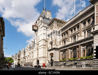 Royal Courts of Justice, Strand, Holborn, London, WC2A 2LL. Built by the architect G E Street in 1882. The workings - Stock Photo