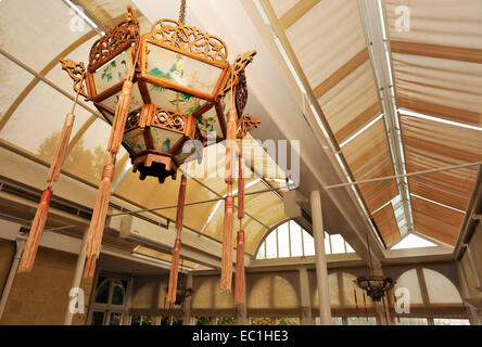 Dickens - Gad's Hill Place (Gadshill) conservatory and Chinese lanterns. English novelist Charles Dickens lived - Stock Photo