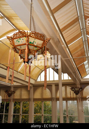 Dickens - Gad's Hill Place (Gadshill) Chinese lantern in conservatory. English novelist Charles Dickens lived here - Stock Photo