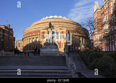 Exterior of the Royal Albert Hall from The Albert Memorial ...