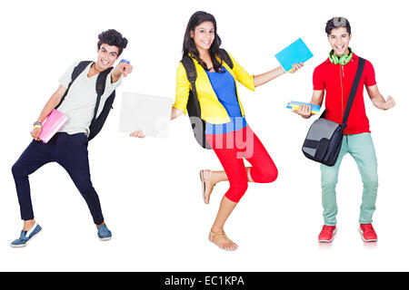 indian College Friends Students fun - Stock Photo