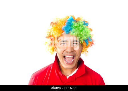 one indian man Toupee Wig - Stock Photo