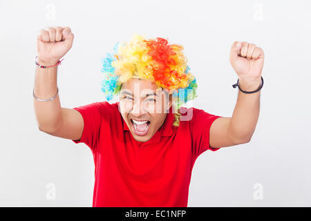 one indian boy toupee Wig - Stock Photo