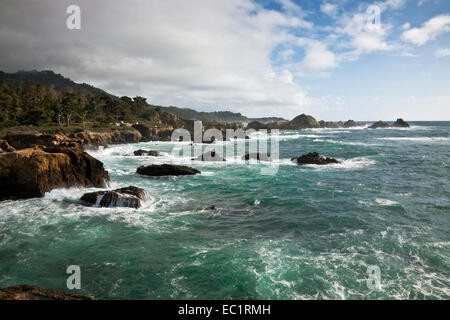 CA02461-00...CALIFORNIA - View of the coastline south from Point Lobos State Reserve. - Stock Photo