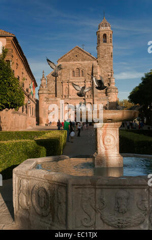 Vazquez de Molina square and The Salvador Chapel, Ubeda, Jaen province, Region of Andalusia, Spain, Europe - Stock Photo