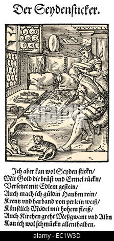 1568, description of the trades, text by Hans Sachs, 1494 - 1576, a Nuremberg poet, playwright and Meistersinger, - Stock Photo