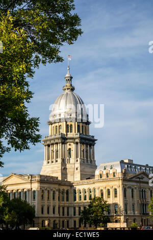 Springfield Illinois State Capitol Building French Renaissance architectural style zinc dome - Stock Photo