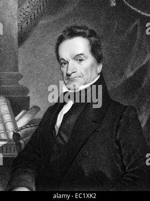 Edward Livingston (1764-1836) on engraving from 1834.  American jurist and statesman. - Stock Photo