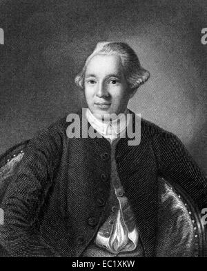 Joseph Warren (1741-1775) on engraving from 1835. American doctor who played a leading role in American Revolution. - Stock Photo