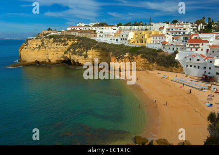 Coast, Carvoeiro, Lagoa, Algarve, Portugal, Europe - Stock Photo