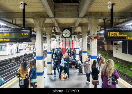 Acton Town Underground station, London, United Kingdom - Stock Photo