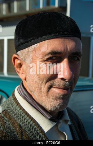 Portrait, friendly Chechen man, Chechnya, Caucasus, Russia - Stock Photo
