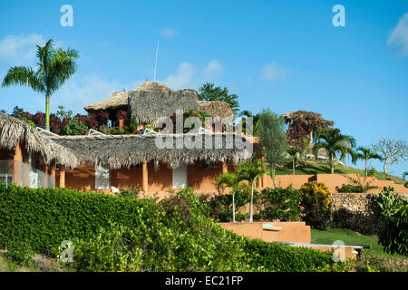 Dominikanische Republik, Halbinsel Samana, Los Galeras, Restaurant El Monte Azul bei der Siedlung Guazuma - Stock Photo