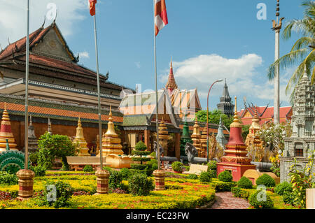 Cemetery Garden at Praea Monastery, Siem Reap, Cambodia - Stock Photo