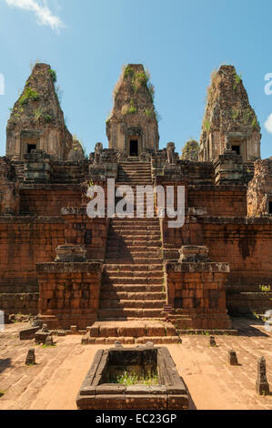 Temple Mountain of East Mebon, near Siem Reap, Cambodia - Stock Photo
