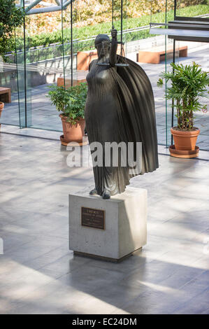 Scales of Justice or the Lady of Justice statue located in the Great Hall at the Vancouver Law Courts - Stock Photo