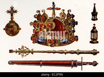 The Bohemian Crown Jewels, sometimes called the Czech Crown Jewels - Stock Photo