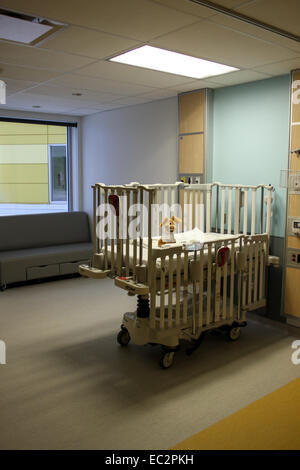 A patient room at the Montreal Children's Hospital - Stock Photo
