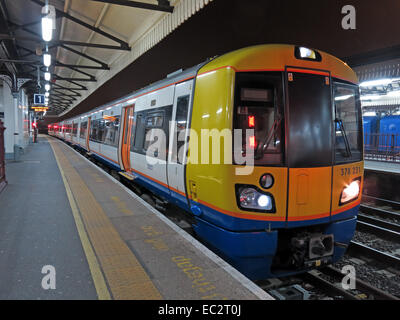 Clapham Junction Railway station at Night,London Overground - Stock Photo