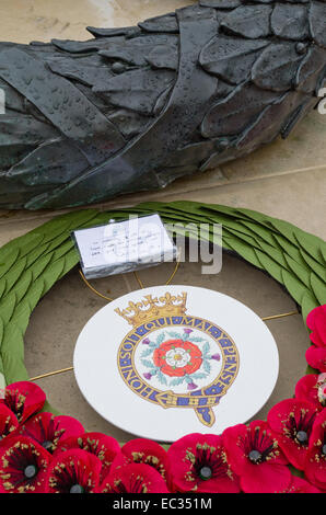 Wreath left by Prince Edward at the National Memorial Arboretum, on Remembrance Day 2015 - Stock Photo