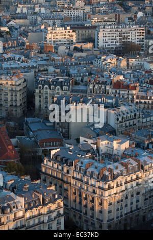 France, Paris, Overview of buildings in the 7th arrondissement - Stock Photo