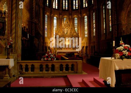 Indoor Photo of the Matthias Church, Budapest - Stock Photo