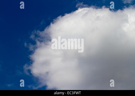 White cloud in blue sky - Stock Photo