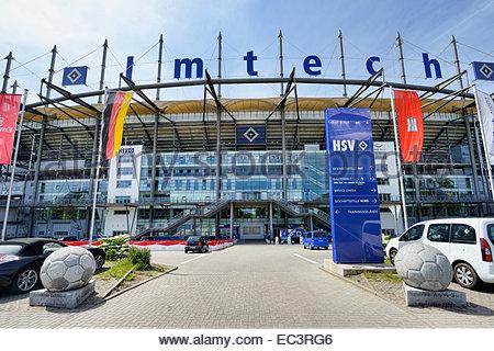 Imtech Arena football stadium in Hamburg, Germany - Stock Photo