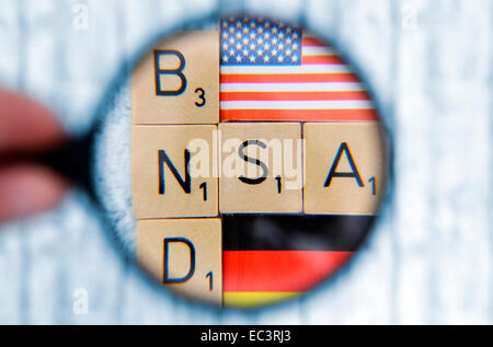 Cooperation of German Intelligence Service BND and NSA - Stock Photo
