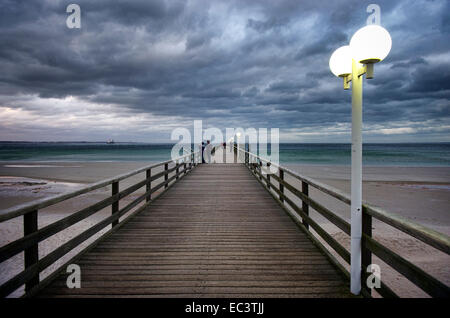 Storm at the Baltic Sea in Scharbeutz, Germany - Stock Photo