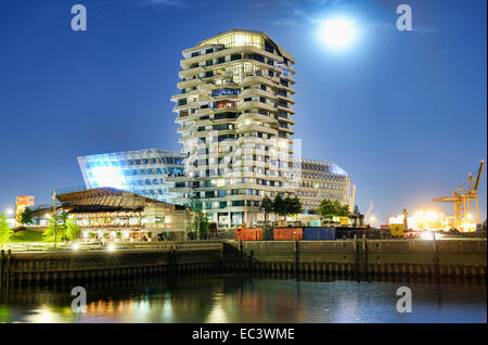 Marco Polo Tower and Unilever building in Hamburg, Germany - Stock Photo