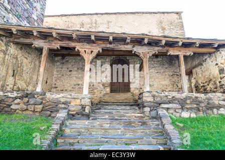 oldest church in Andorra La Vella - Stock Photo