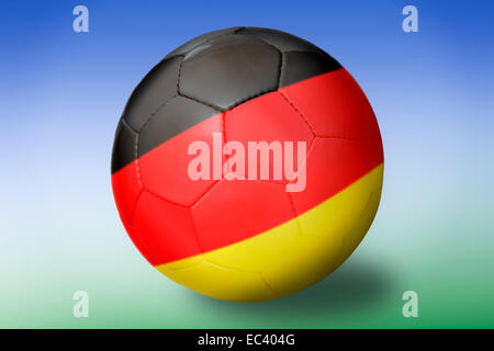 Soccer ball, national colours of Germany - Stock Photo