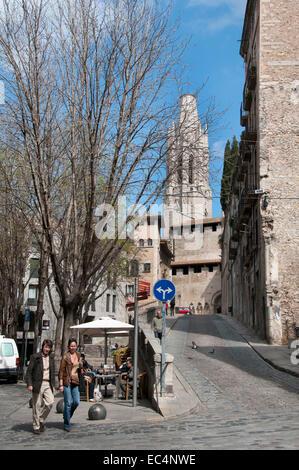 Basilica Parroquial de Sant Feliu Church of Sant Feliu Catalonia Girona Catalonia Spain Spanish - Stock Photo