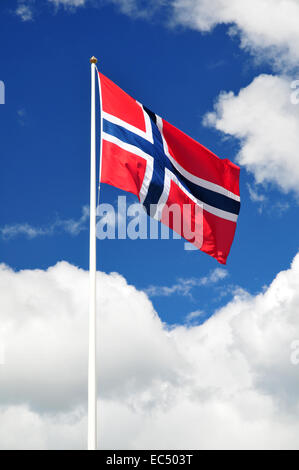 norway flag - Stock Photo