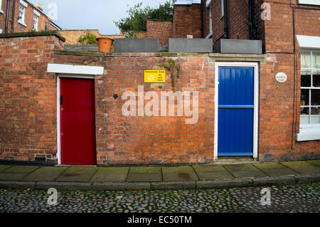 ... Blue and red wooden doors in a brick wall at Swan Hill Shrewsbury Shropshire & 3 doors in shrewsbury Stock Photo Royalty Free Image: 80517986 ... pezcame.com