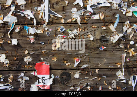 An empty info board without information - Stock Photo