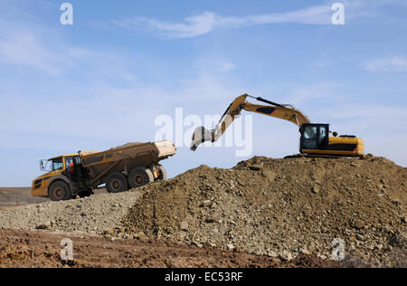 Digger and dumper - Stock Photo