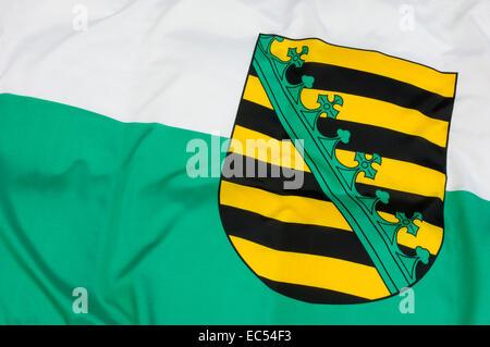 Flag of Saxony - Stock Photo