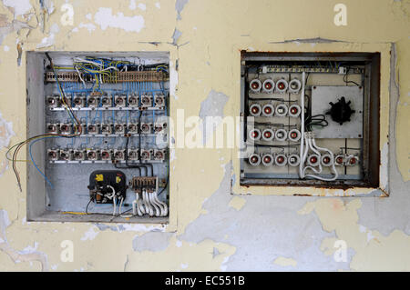 fuse box - Stock Photo