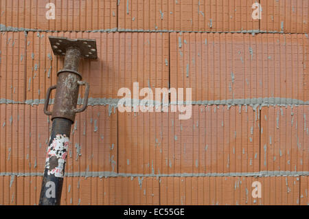 Scaffolding on a construction site - Stock Photo