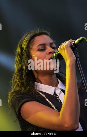 Alunageorge at Pori Jazz 2014 - Stock Photo