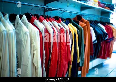 modern cloth shop interior - Stock Photo