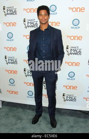Los Angeles, California, USA. 9th Dec, 2014. Alfred Enoch attends 46th NAACP Image Awards Nomination Announcement - Stock Photo