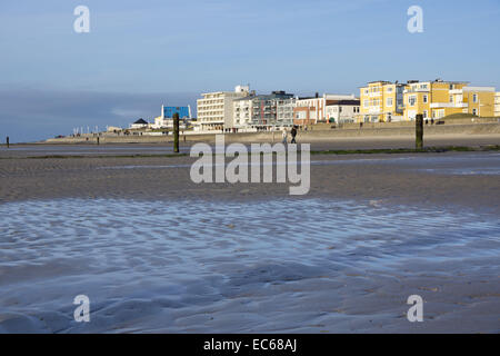 Weststrand beach, Norderney, East Frisian Islands, North Sea, East Frisia, Lower Saxony, Germany, Europe - Stock Photo