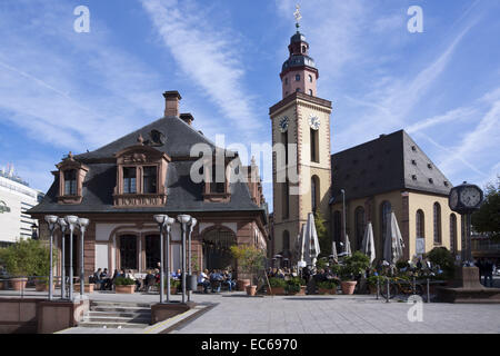 Hauptwache, former guard house, and Catherine - Stock Photo