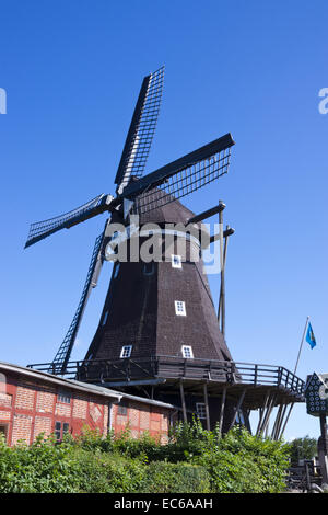 old windmill windmill museum in lemkenhafen fehmarn island baltic stock photo royalty free. Black Bedroom Furniture Sets. Home Design Ideas
