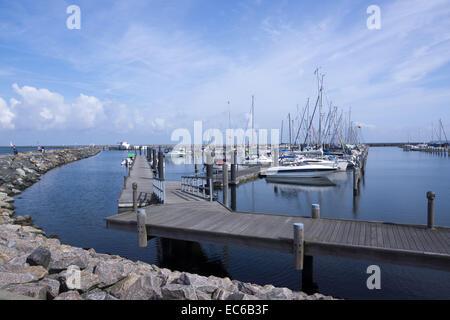 Marina Hohe Duene, seaside resort Warnemuende, Hanseatic City Rostock, Baltic Sea, Mecklenburg-Vorpommern, Germany, - Stock Photo